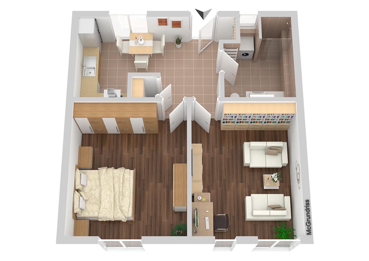 Grundriss Wohnung Nr 3