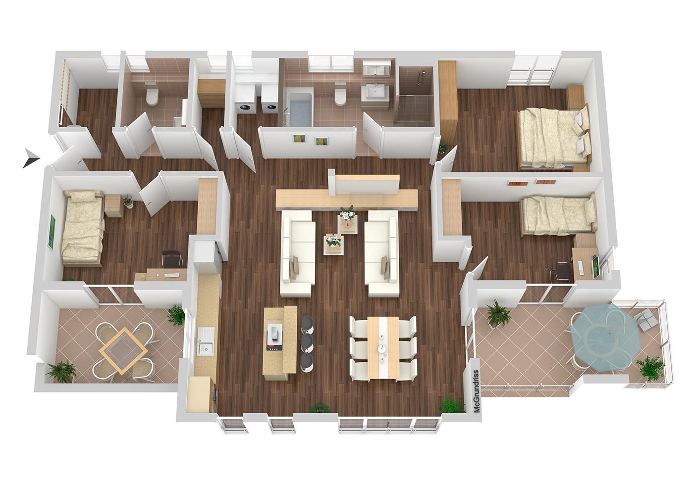 Grundriss Wohnung Nr 8
